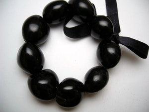 Hawaiian Black Kukui Nut Stretch Bracelet