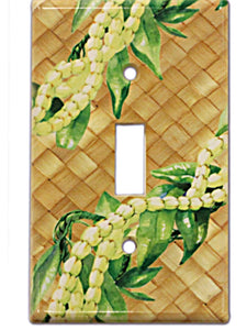 Hawaiian Switchplate Cover Pikake Maile Lei