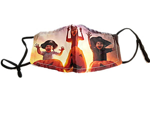 Halloween Trick or Treaters 2-Layer Fashion Face Mask Cover Adjustable Straps