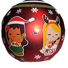 Load image into Gallery viewer, Welcome to the Islands Hawaiian Children Blown Glass Christmas Ornament