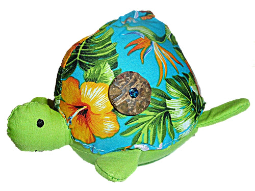 Hawaiian Floral Stuffed Honu Turtle Pin Cushion