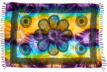 Load image into Gallery viewer, Tie Dye Irish Celtic Circles Pattern Sarong Pareo Swimsuit Cover Up (S-XL)