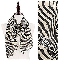 Load image into Gallery viewer, Zebra Animal Print Sheer Chiffon Scarf or Bikini Cover Up Short Sarong
