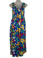 Load image into Gallery viewer, Tropical Jungle Floral Print Tank Top Long Sundress  O/S (S-L) tc082