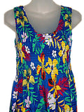 Tropical Jungle Floral Print Tank Top Long Sundress  O/S (S-L) tc082