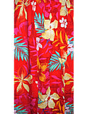 Hawaiian RED Floral Tank TOP Long Sun Dress-Luau Cruise ONE Size (S-L) tc082