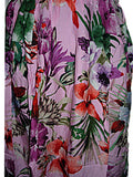 Hawaiian Pink Floral Tropical Flowers Summer Tank Top Sun Dress (S-L-See Measurements) tc086 Pink