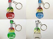 "Load image into Gallery viewer, 1-Hawaiian 2 1/2"" Hand Painted Ukulele Uke Keychain Key Chain Hawaii Souvenir"