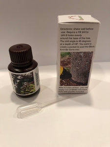 Black KNOT Be Gone ™ Safely promotes healing of the whole tree for Black KNOT disease. All organic plant ingredients. 60 ml