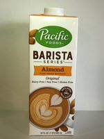 photo of almond milk carton - made by Pacific Foods