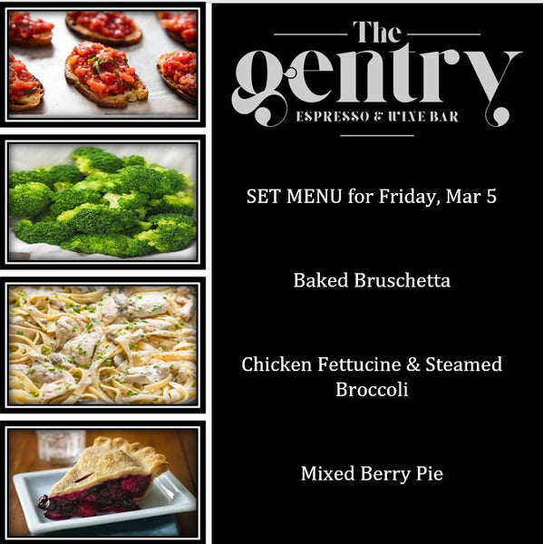 Dinner Special - Set Menu - Friday, Mar 5