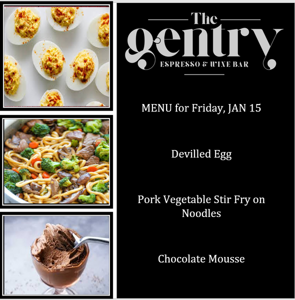 Dinner Special - Set Menu - Friday, Jan 15