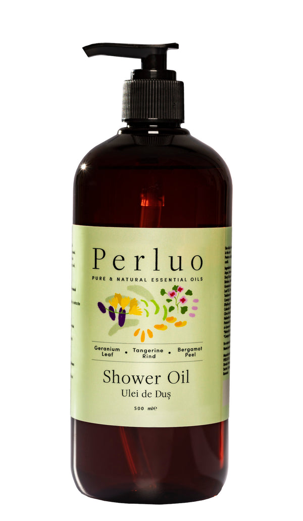 SHOWER OIL - GERANIUM, BERGAMOTE AND TANGERINE