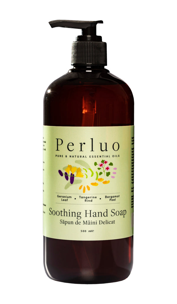 SOOTHING HAND SOAP - GERANIUM, BERGAMOTE AND TANGERINE