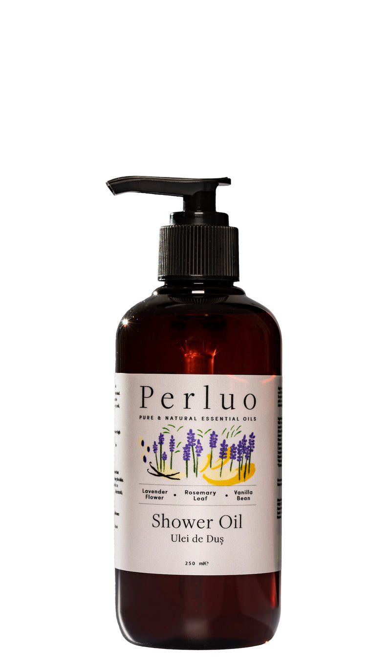 SHOWER OIL-LAVENDER, ROSEMARY AND VANILLA