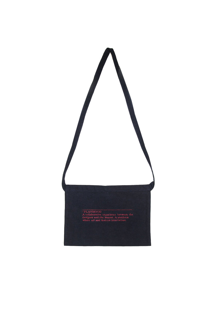 Navy Sling Canvas Bag