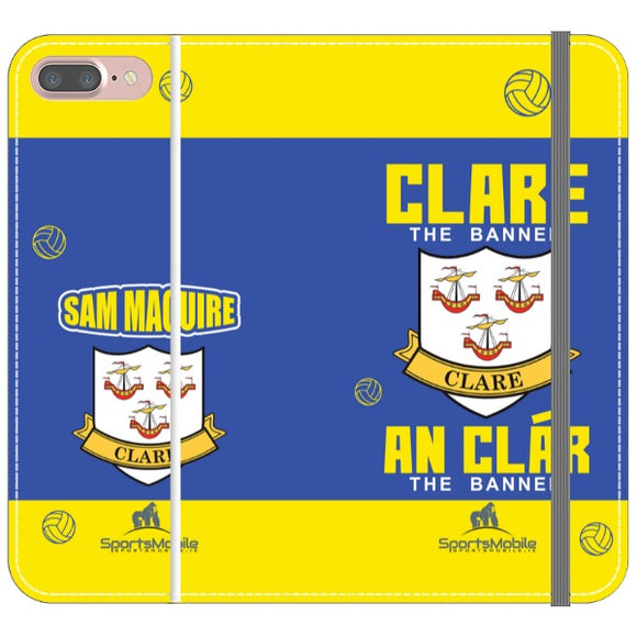 Clare Sam Maguire - iPhone 8 Plus Folio In Satin
