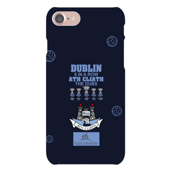 Dubin 5 in A Row V2 - iPhone 8 Snap Case In Matte