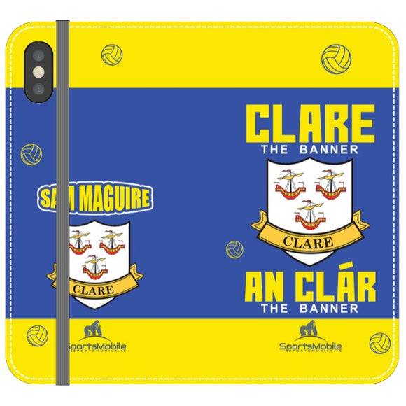 Clare Sam Maguire - iPhone XS Folio In Satin