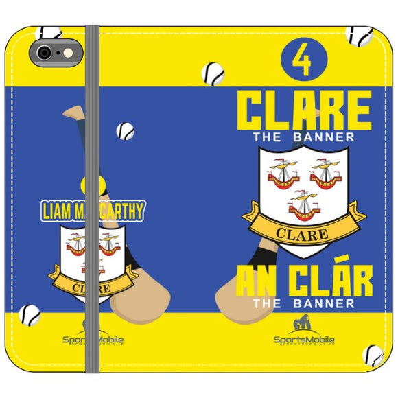 Clare Liam MacCarthy - iPhone 6S Folio Wallet In Satin