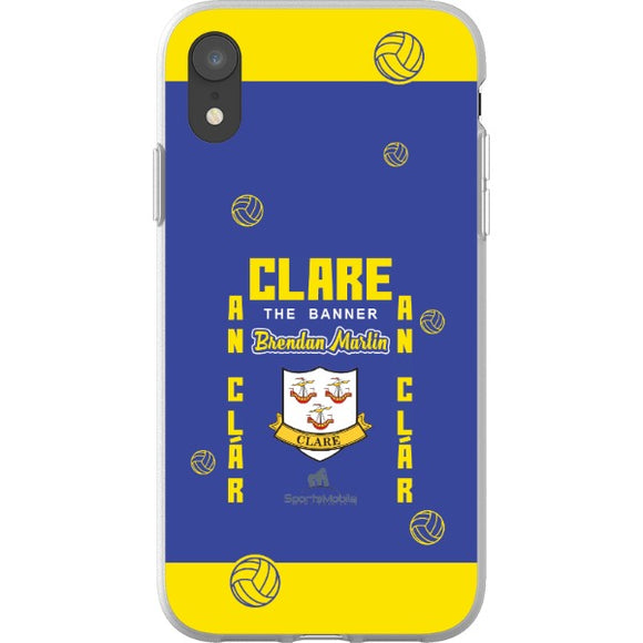 Clare Brendan Martin - iPhone XR Flexi Case Clear