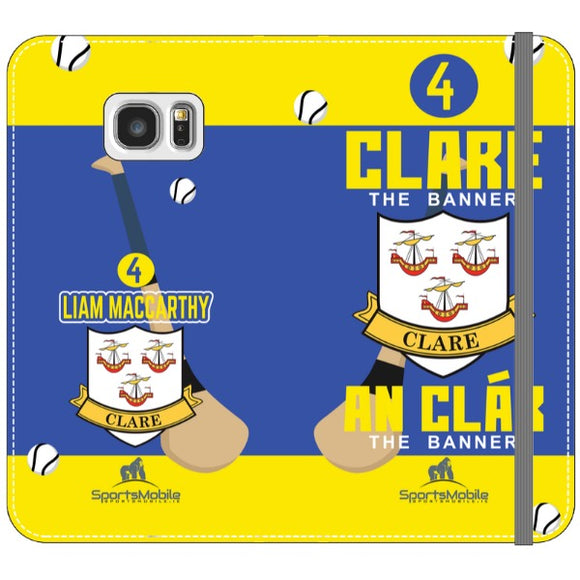 Clare Liam MacCarthy - Samsung Galaxy S7 Edge Folio Wallet In Satin