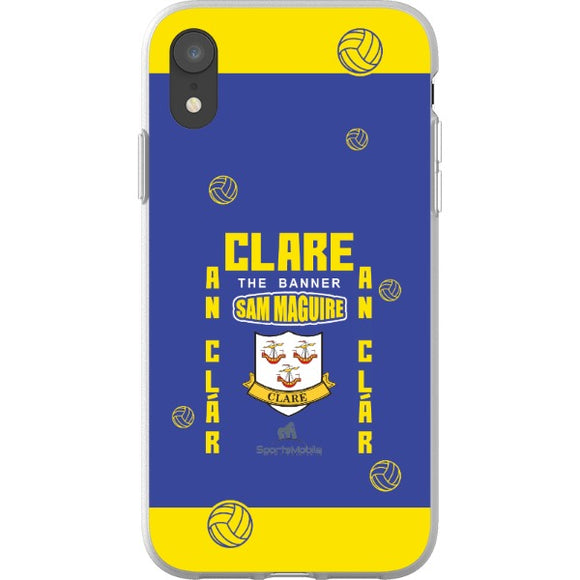 Clare Sam Maguire - iPhone XR Flexi Case Clear