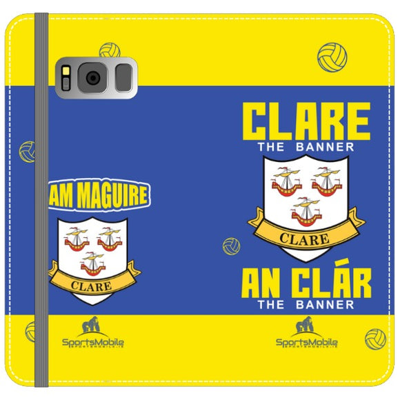 Clare Sam Maguire - Samsung Galaxy S8 Plus Folio Wallet In Satin