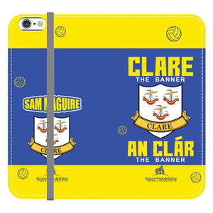 Clare Sam Maguire - iPhone 6/6S Folio Wallet Case In Satin