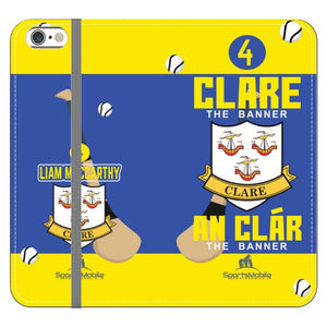 Clare Liam MacCarthy - iPhone 6 Plus /6S Plus Folio Wallet Case In Satin