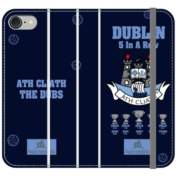 Dublin 5 in A Row V2 Wallet.png - iPhone 8 Folio In Satin