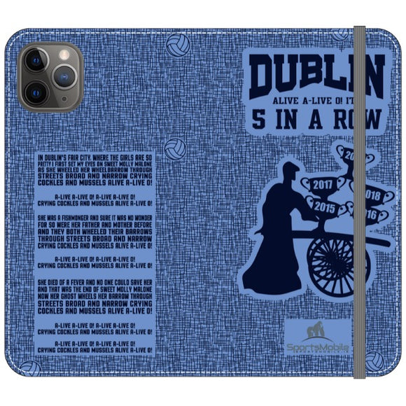 Molly Malone  - iPhone 11 Pro Max Folio Wallet in Satin (Clear PC Insert)