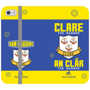 Clare Sam Maguire - iPhone 5/5S Folio In Satin