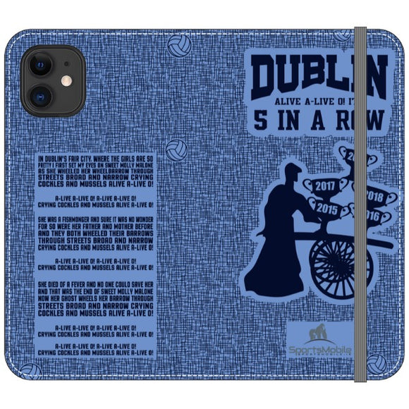 Molly Malone  - iPhone 11 Folio Wallet in Satin (Clear PC Insert)