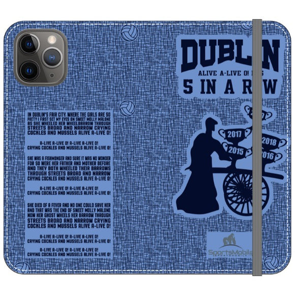 Molly Malone  - iPhone 11 Pro Folio Wallet in Satin (Clear PC Insert)