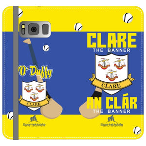 Clare O'Duffy - Samsung Galaxy S8 Folio Wallet In Satin