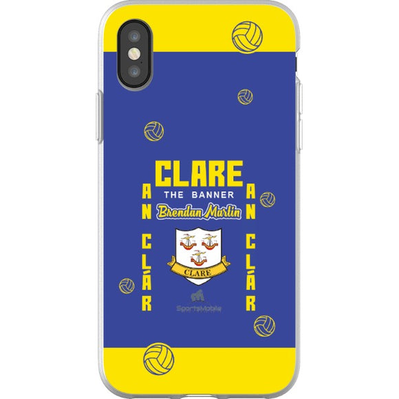 Clare Brendan Martin - iPhone X Flexi Case Clear
