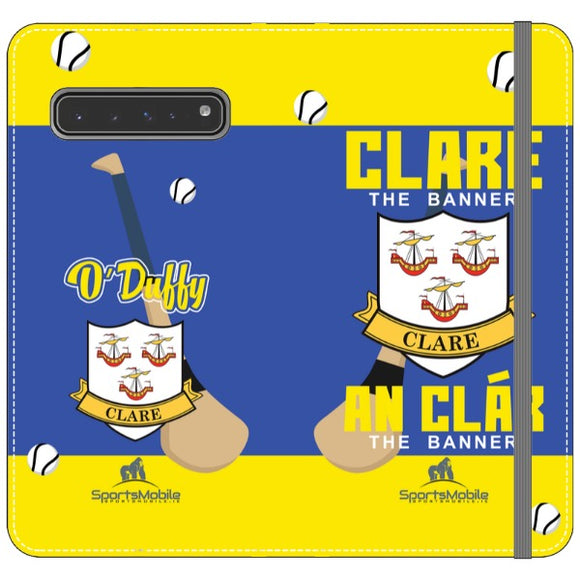 Clare O'Duffy - Samsung Galaxy S10 5G Plus Folio Wallet In Satin