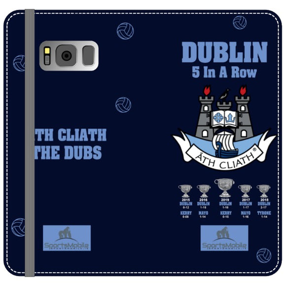 Dublin 5 in A Row V2 Wallet.png - Samsung Galaxy S8 Plus Folio Wallet In Satin