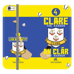 Clare Liam MacCarthy - iPhone 6/6S Folio Wallet Case In Satin