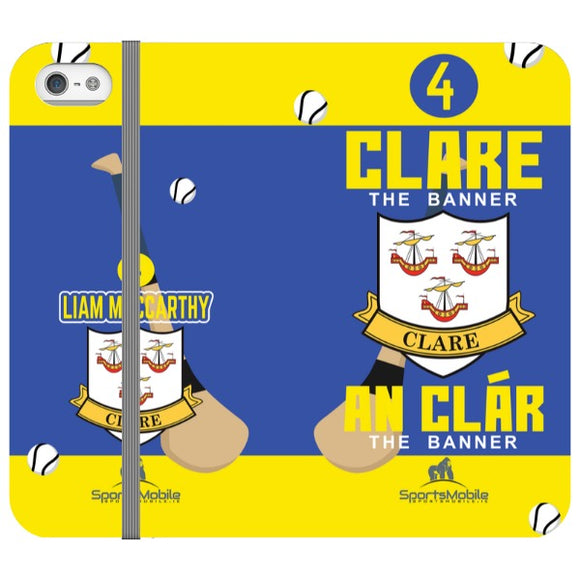Clare Liam MacCarthy - iPhone SE Folio In Satin