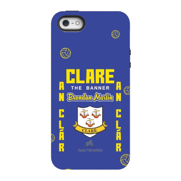 Clare Brendan Martin - iPhone SE Tough Black Case In Matte