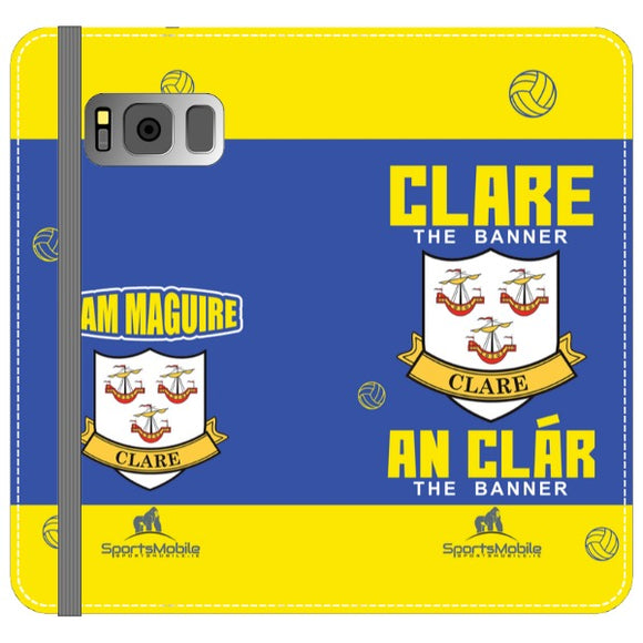 Clare Sam Maguire - Samsung Galaxy S8 Folio Wallet In Satin
