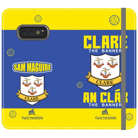 Clare Sam Maguire - Samsung Galaxy S10e Folio Wallet In Satin