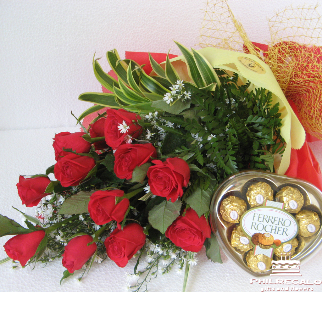 Fresh Flower Delivery with chocolates in Manila Philippines