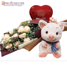 Peachy Pig Heart Package
