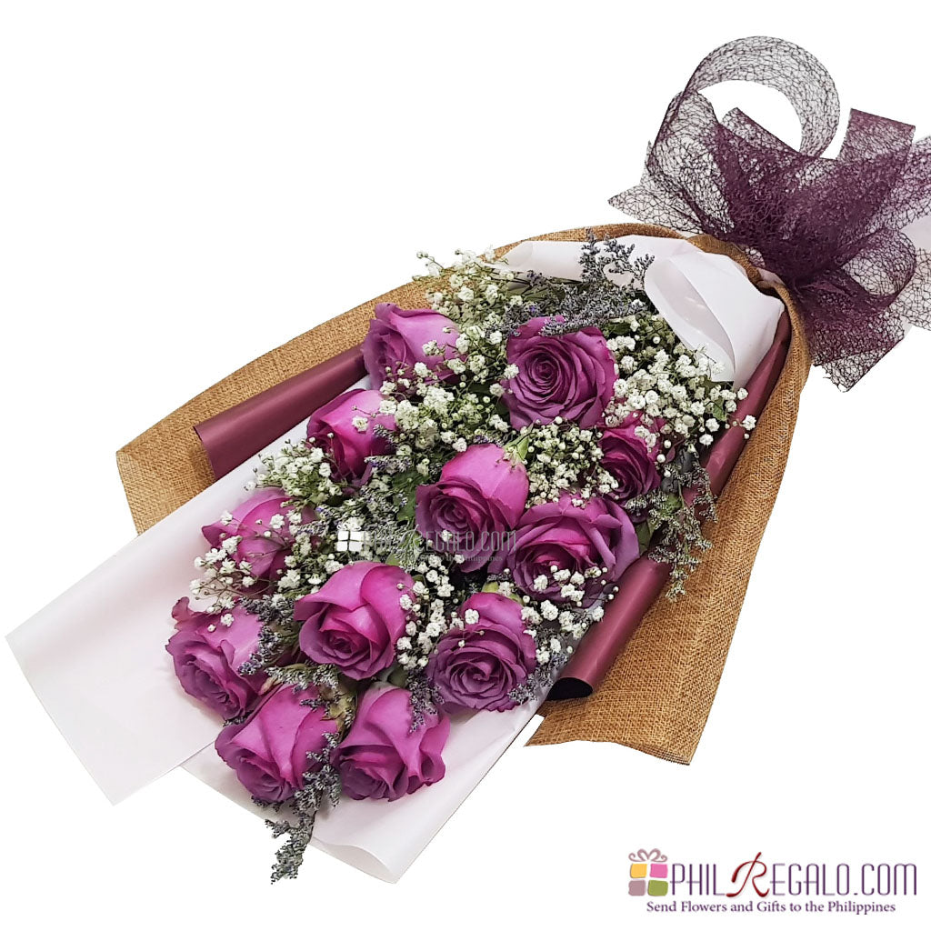 Enchanted Lilac Rose Bouquet