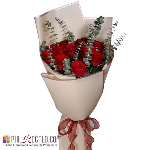 Basic Lover Red Rose Bouquet