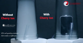 Cherry ion Personal Air Purifiers White-Gold