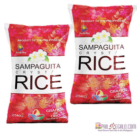 Sampaguita Crystal Rice 2 Sacks 25Kg
